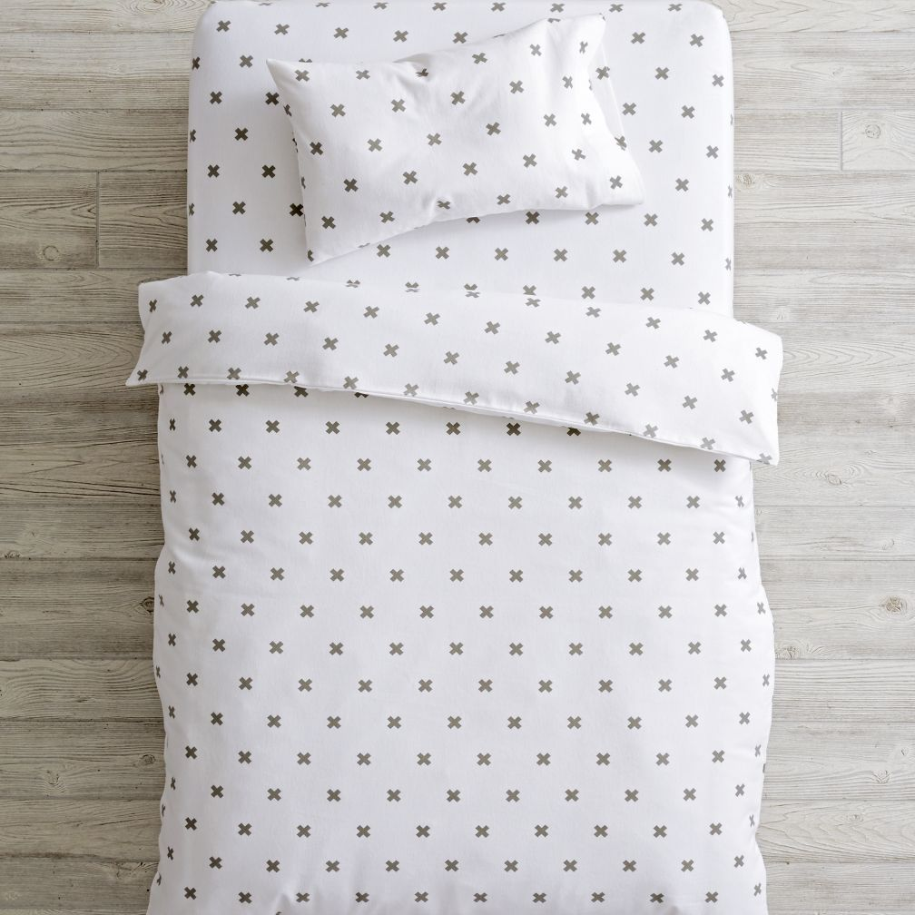 Crisscross Flannel Toddler Bedding