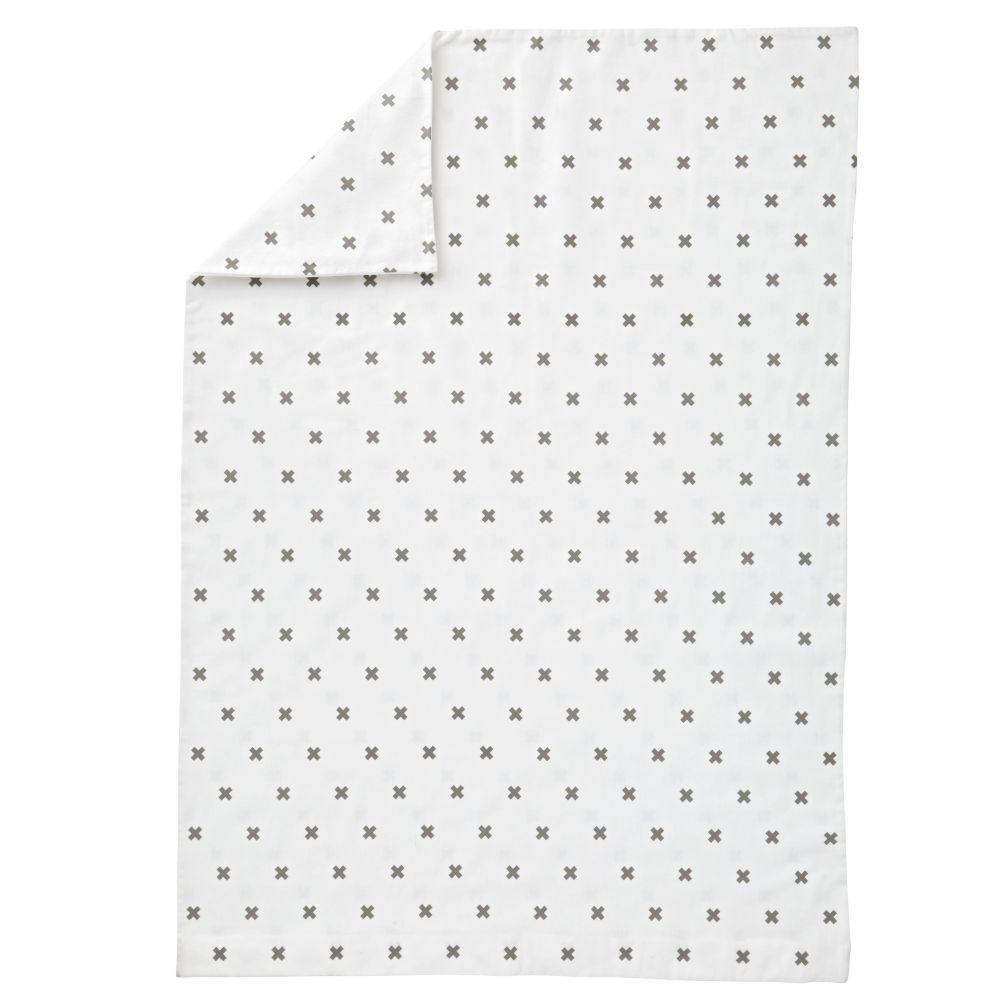 Crisscross Toddler Duvet Cover