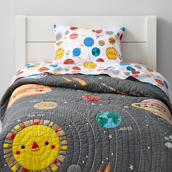 Deep Space Toddler Bedding | The Land of Nod