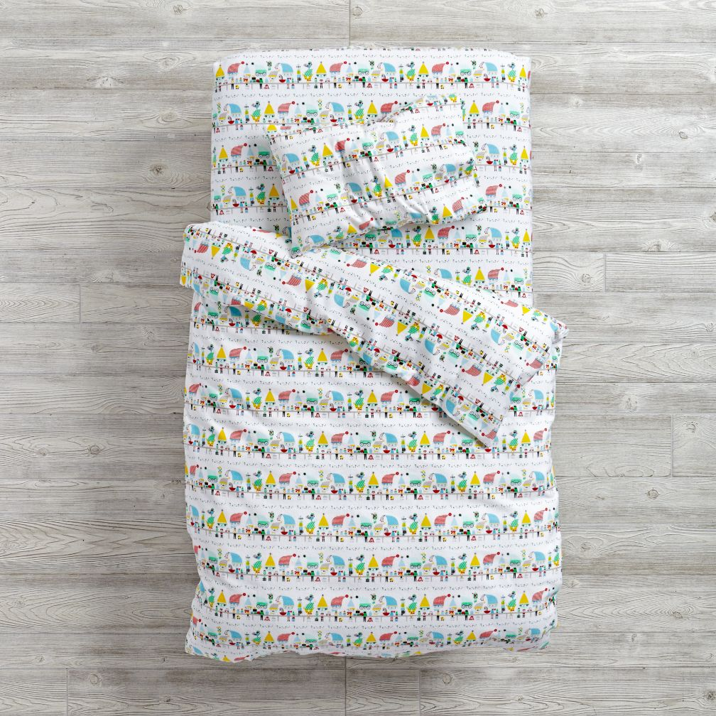 Elf Help Flannel Toddler Duvet