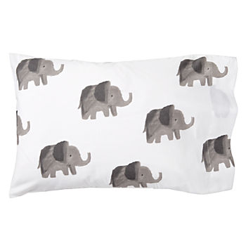 Organic Wild Excursion Elephant Toddler Pillowcase