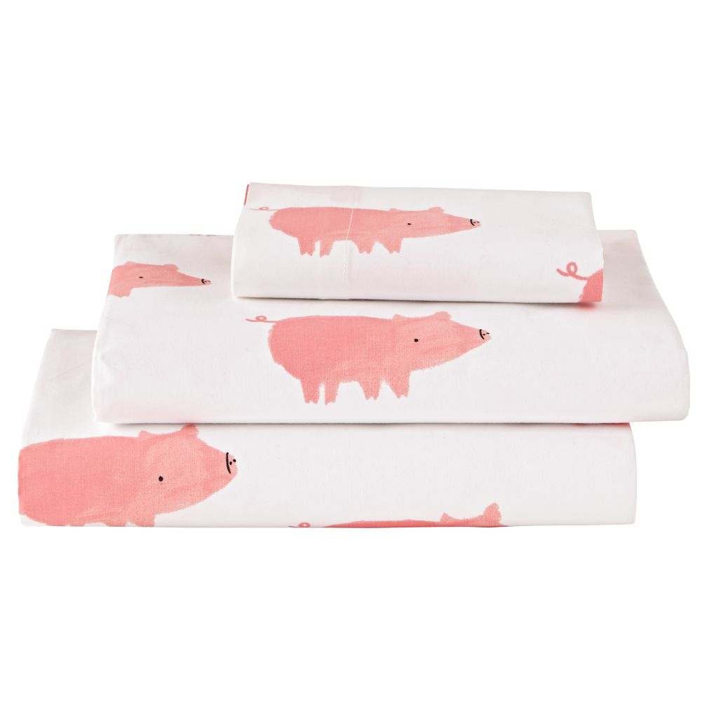 Wild Excursion Pig Toddler Sheet Set