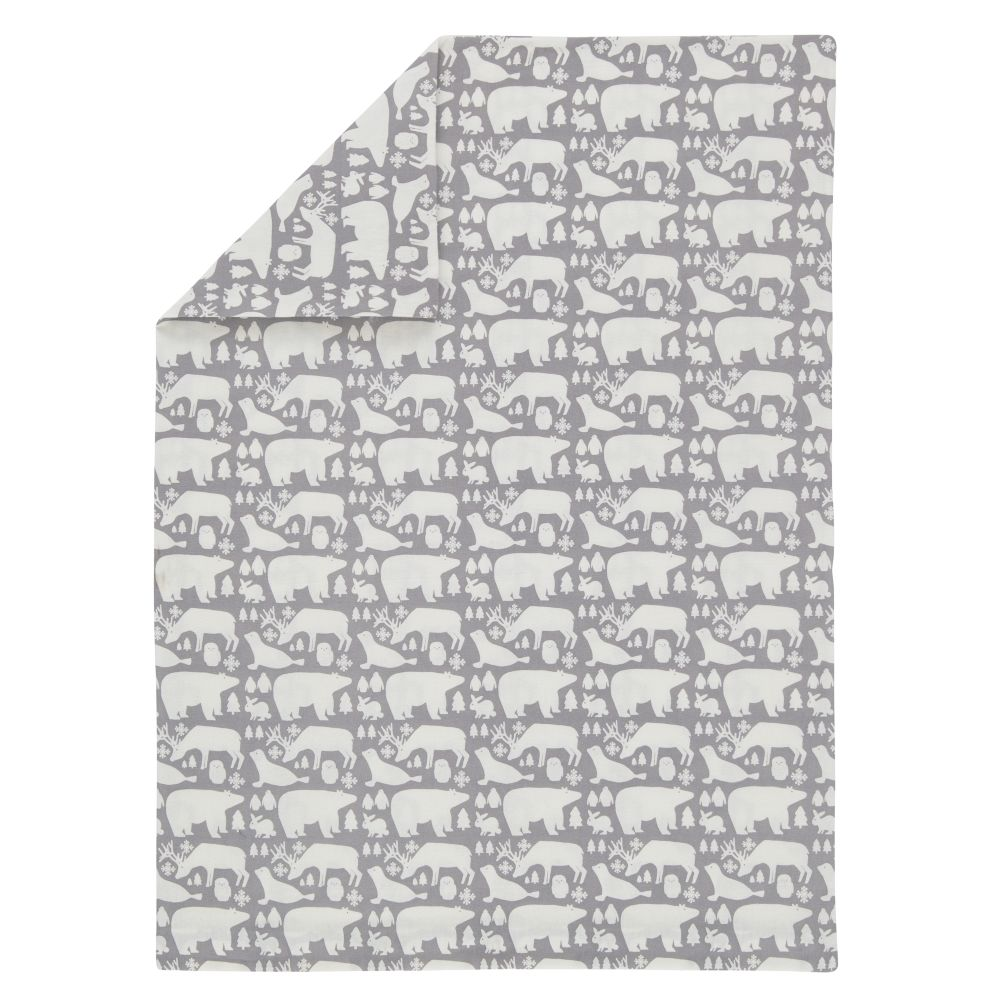 Great White North Flannel Toddler Duvet Cover