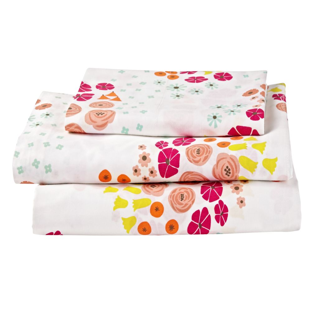 Flower Show Toddler Sheet Set