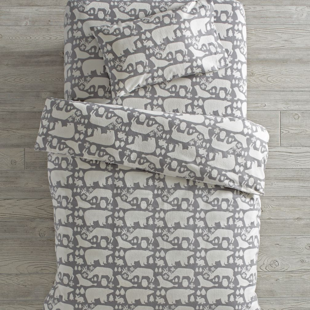 Great White North Flannel Toddler Bedding