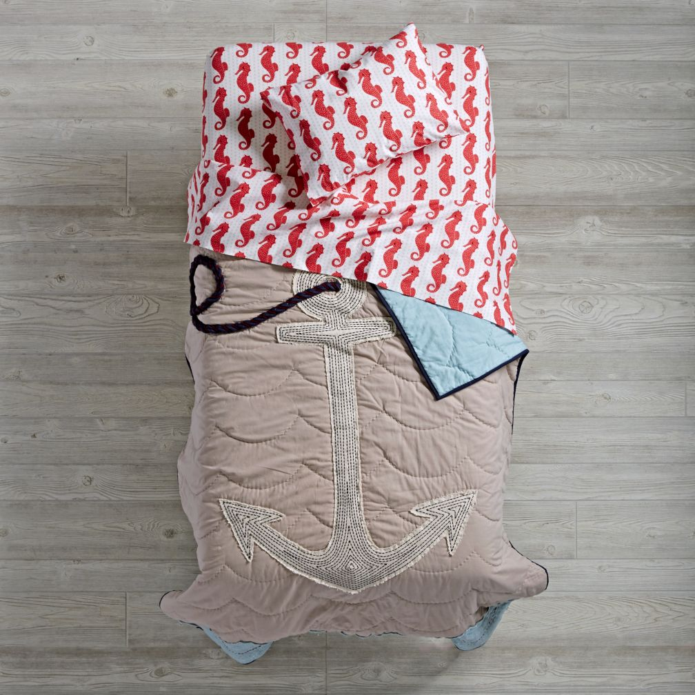 High Seas Toddler Bedding (Seahorse)