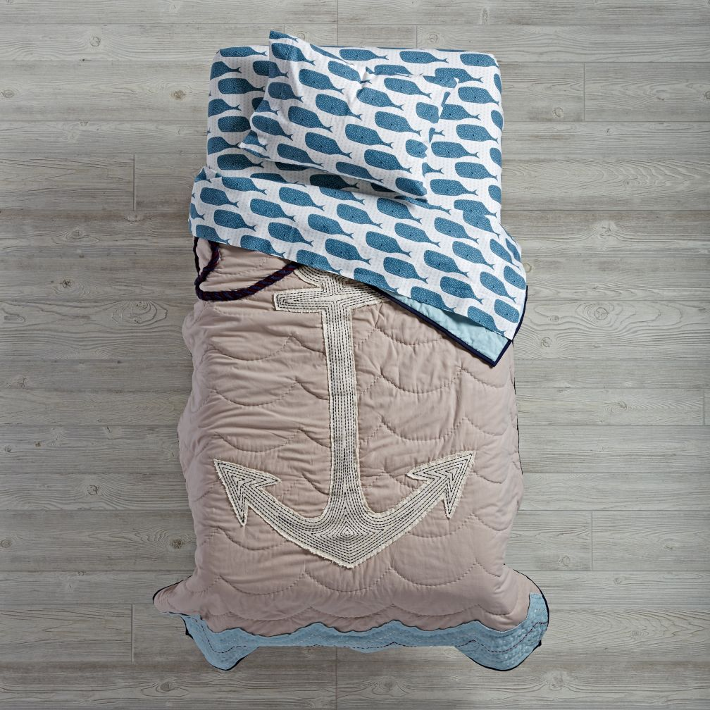 High Seas Toddler Bedding (Whale)