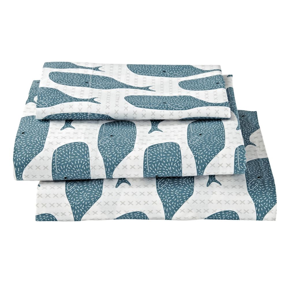 High Seas Toddler Sheet Set (Whale)