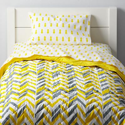 Little Prints Toddler Bedding (Yellow Rocket)