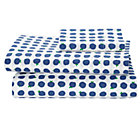 Farmers Market Blueberry Toddler Sheet SetIncludes fitted sheet, flat sheet and one toddler pillowcase
