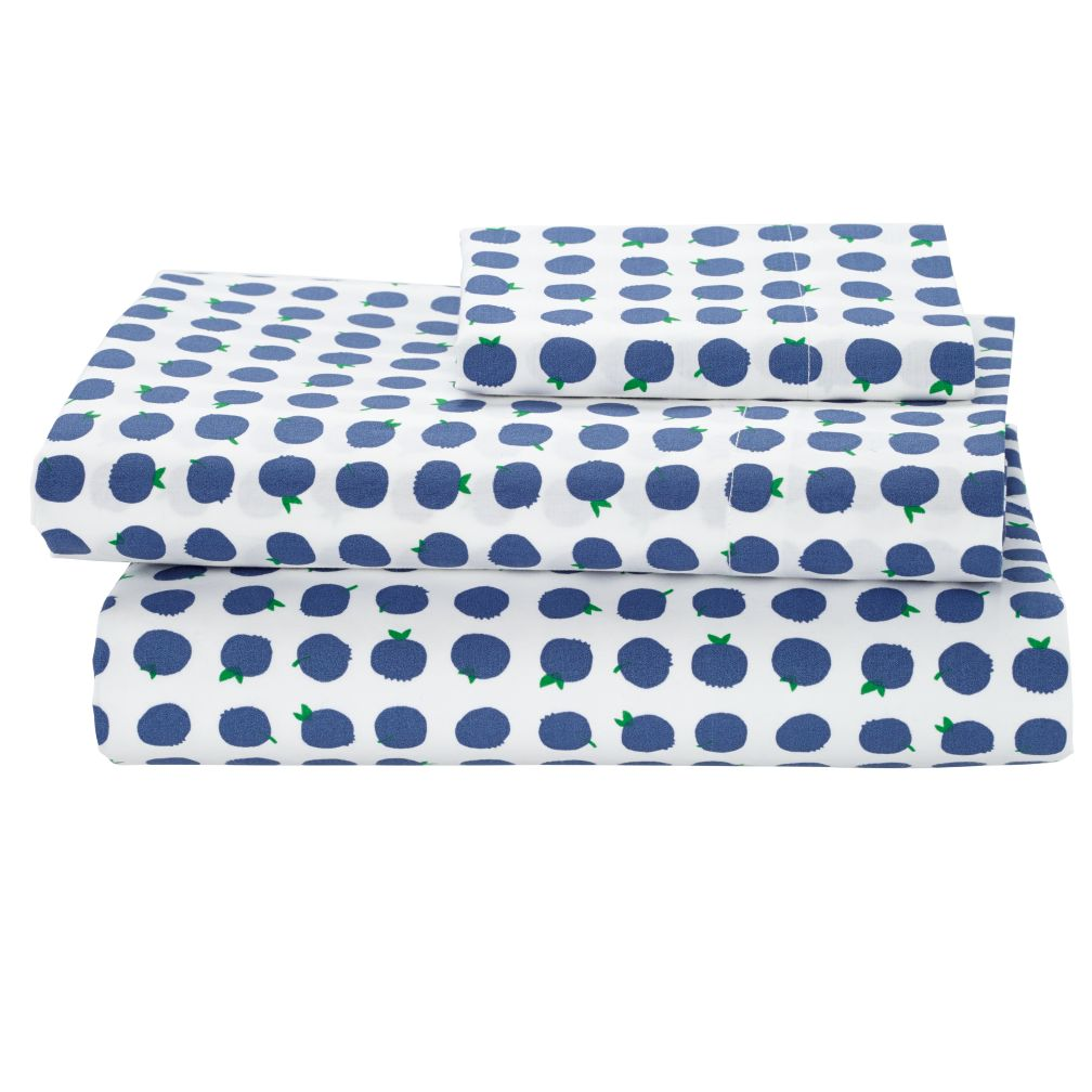 Farmer's Market Blueberry Toddler Sheet Set