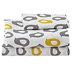 Toddler Yellow/Grey Chick Sheet SetIncludes 1 fitted sheet, 1 flat sheet and 1 toddler pillowcase