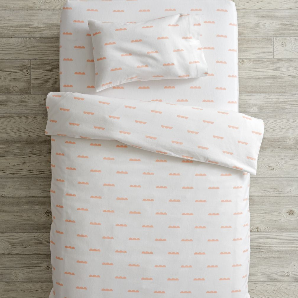 Rosy Cloud Flannel Toddler Bedding