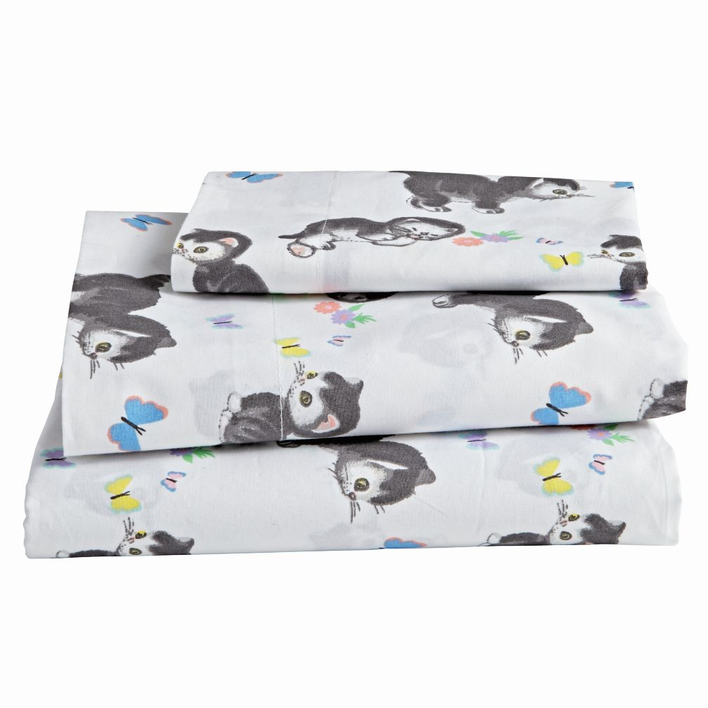 Shy Little Kitten Toddler Sheet Set