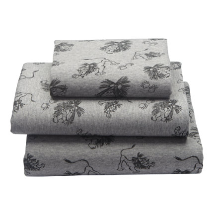 Tawny Scrawny Lion Toddler Sheet SetIncludes fitted sheet, flat sheet and one toddler pillowcase