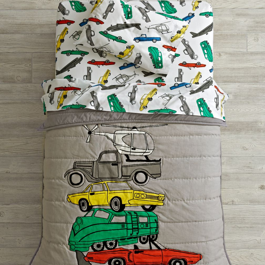 Traffic Jam Toddler Bedding