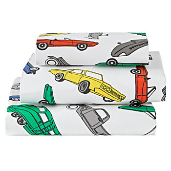 Organic Traffic Jam Toddler Sheet Set