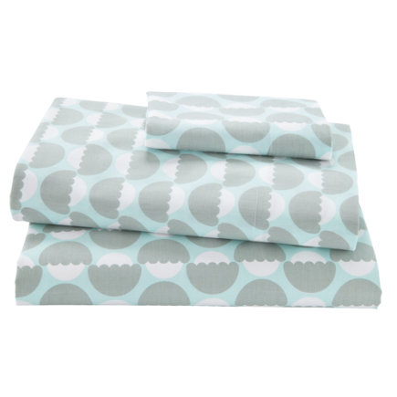 Blue Well Nested Organic Toddler Sheet SetIncludes fitted sheet, flat sheet and one toddler pillowcase