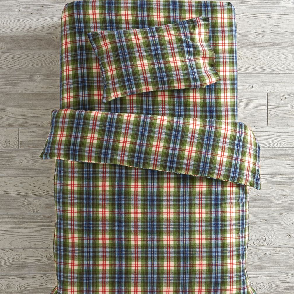 Winter Lodge Flannel Toddler Bedding and Duvet Cover