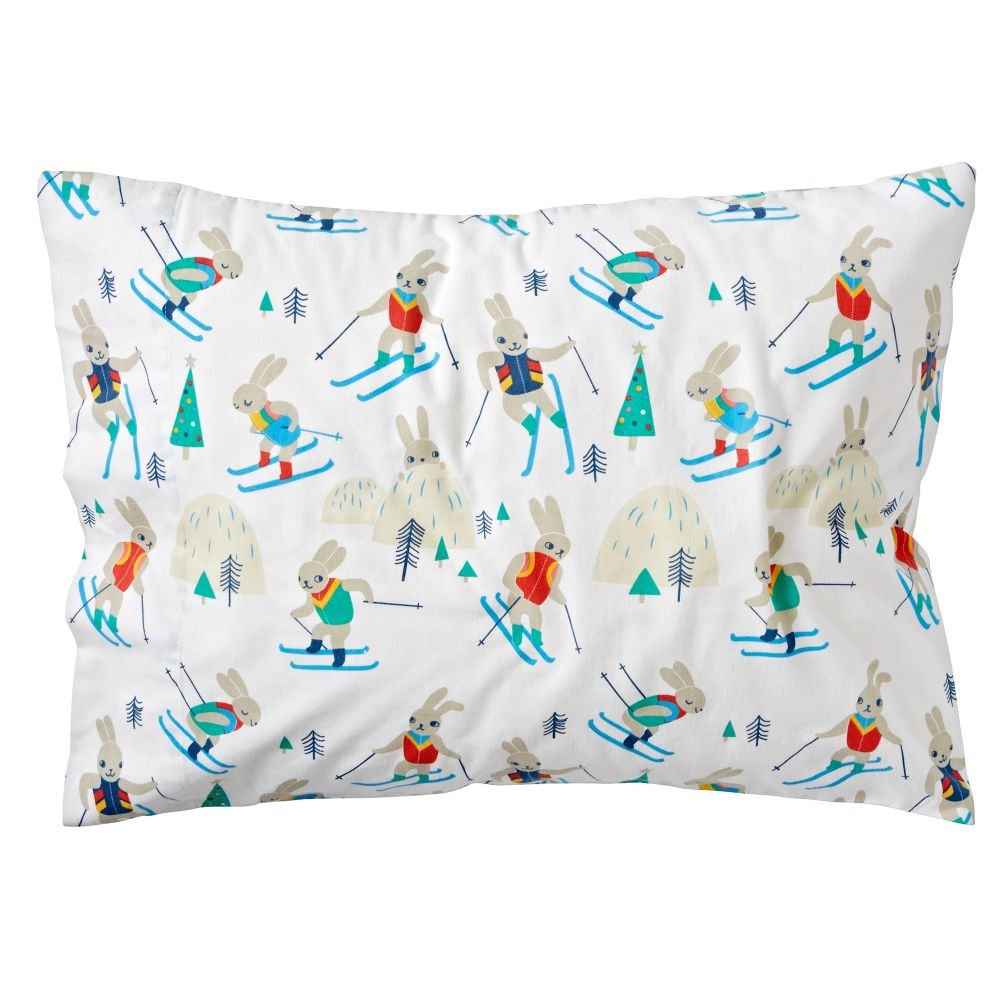 Bunny Hill Flannel Pillowcase