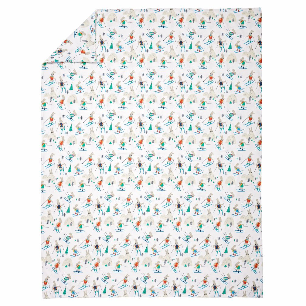 Bunny Hill Flannel Full-Queen Duvet Cover