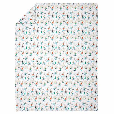 Bunny Hill Flannel Twin Duvet Cover