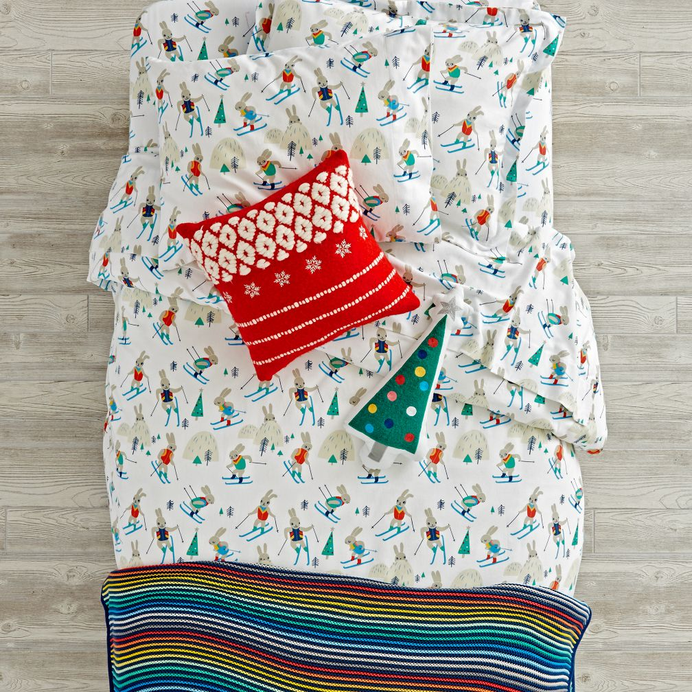 Bunny Hill Flannel Bedding and Duvet Cover