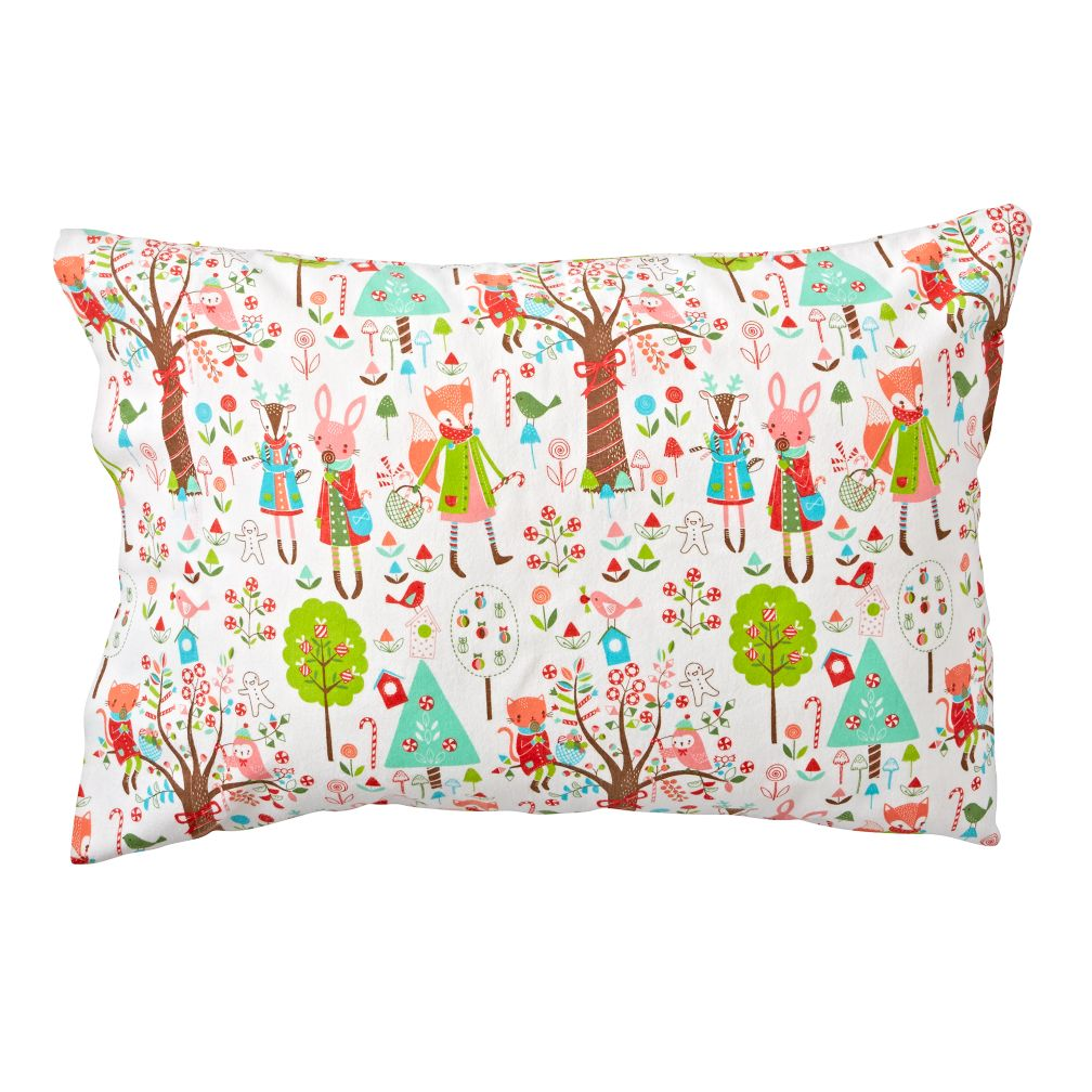 Candy Forest Flannel Pillowcase