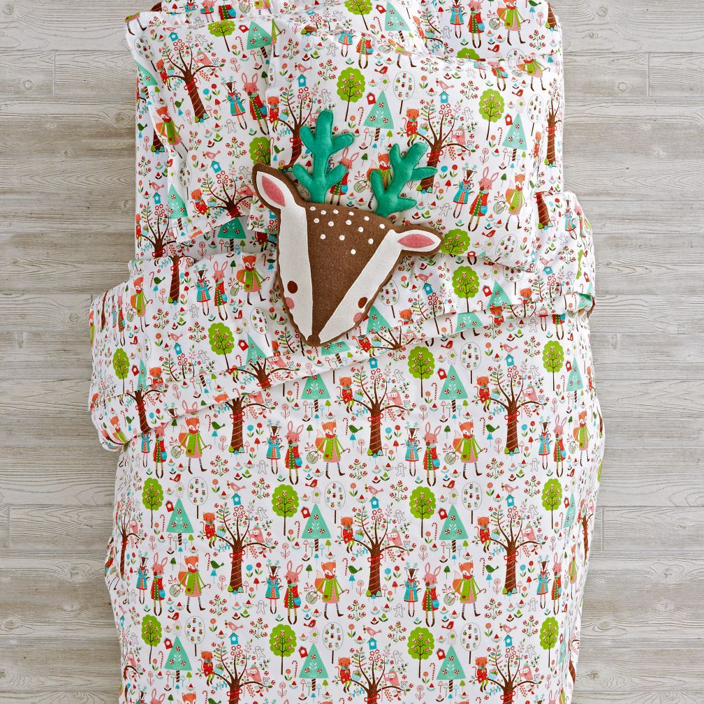 Candy Forest Flannel Bedding and Duvet Cover