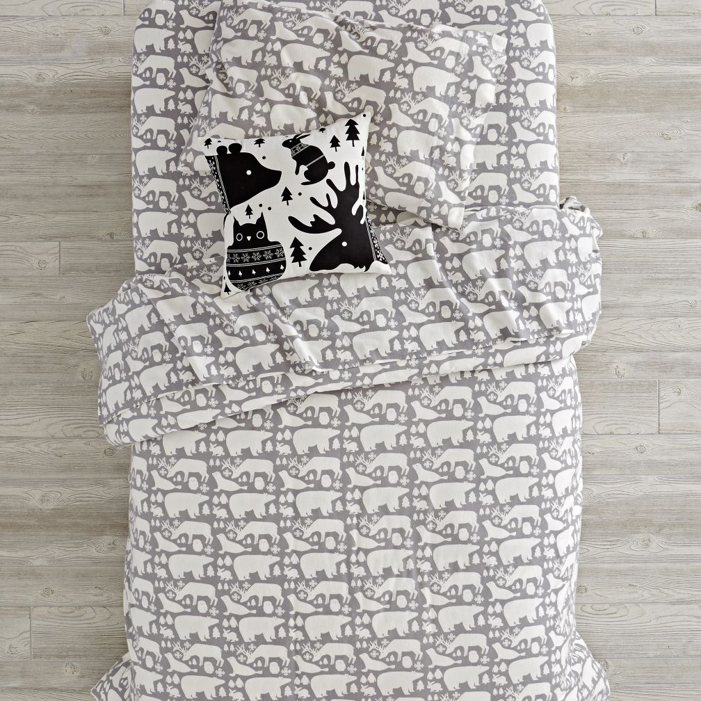 Great White North Flannel Duvet Cover