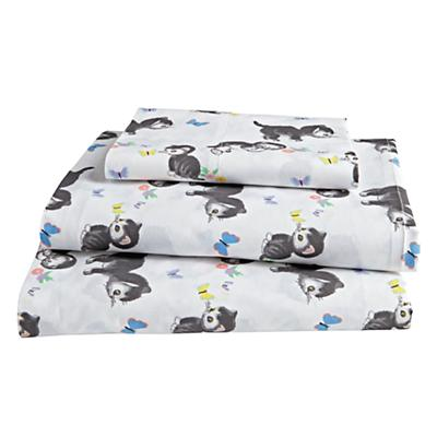 Organic Shy Little Kitten Twin Sheet Set