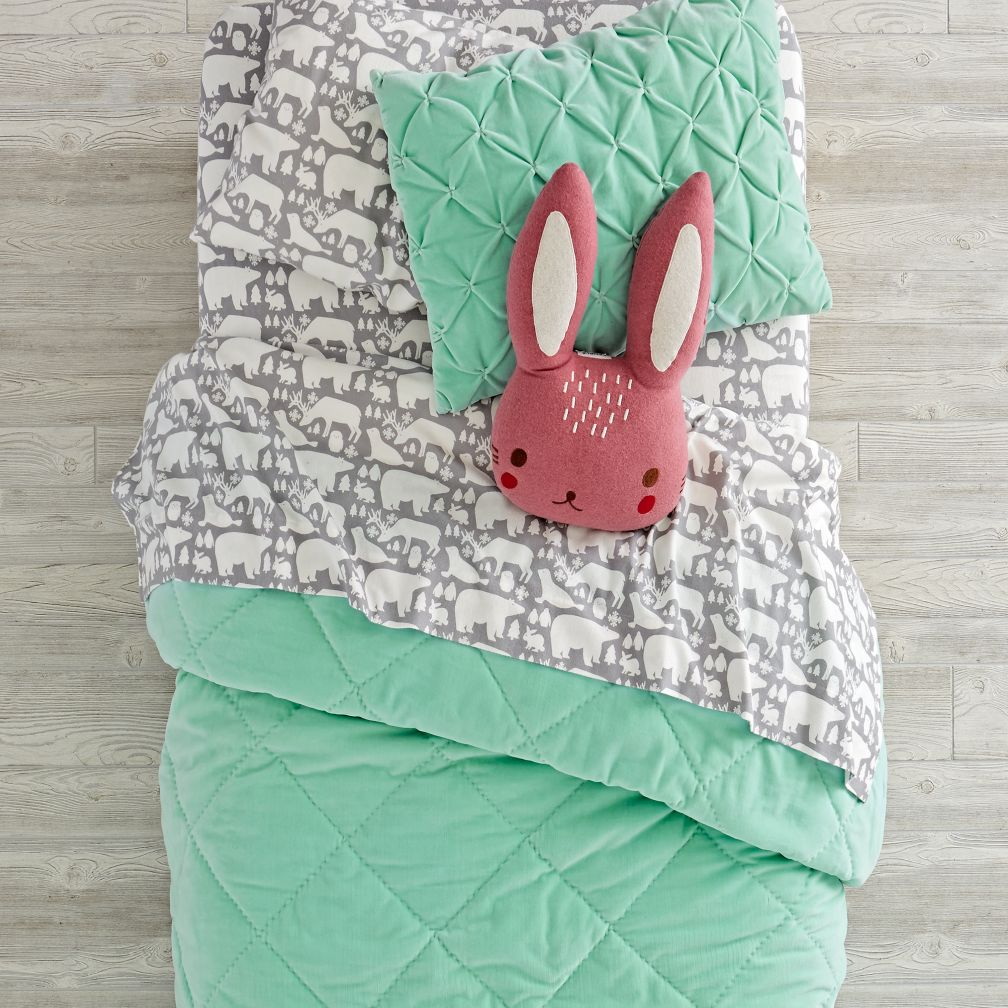 Snug as a Bug Mint Bedding and Quilt