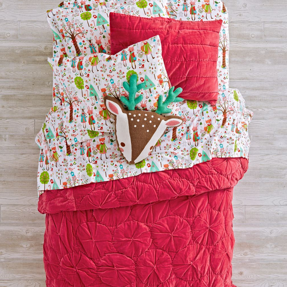 Snug as a Bug Dark Pink Bedding and Quilt