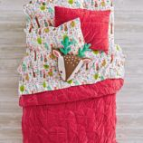 Snug as a Bug Dark Pink Bedding