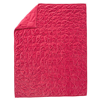 Snug as a Bug Dark Pink Twin Quilt