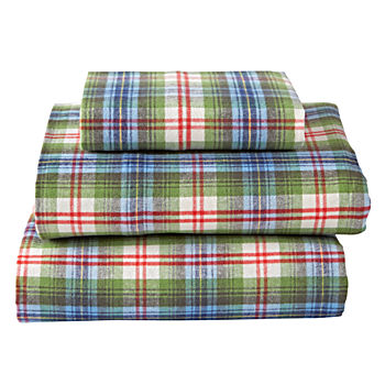 Winter Lodge Flannel Twin Sheet Set