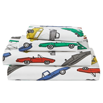 Twin Traffic Jam Sheet SetIncludes fitted sheet, flat sheet and one pillowcase