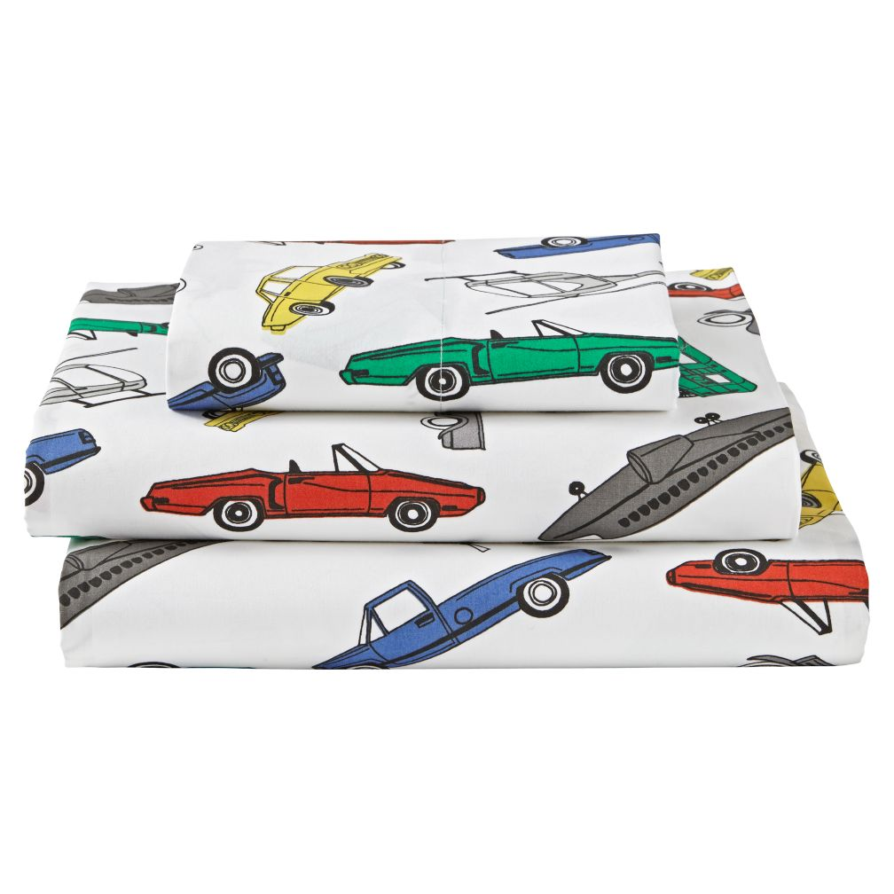 Organic Traffic Jam Twin Sheet Set