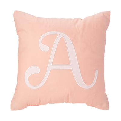 'A' Typeset Throw Pillow