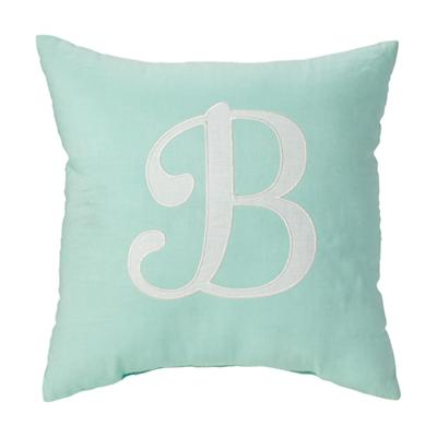 'B' Typeset Throw Pillow