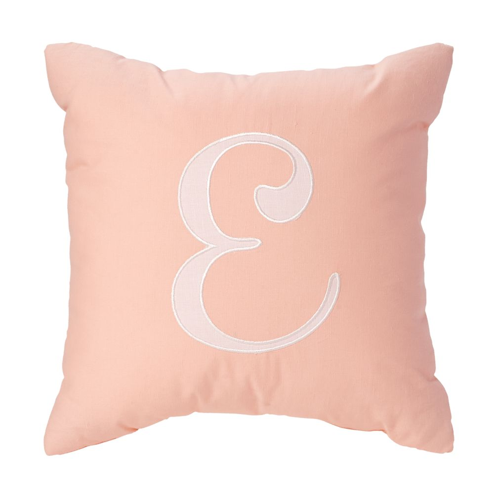 'E' Typeset Throw Pillow