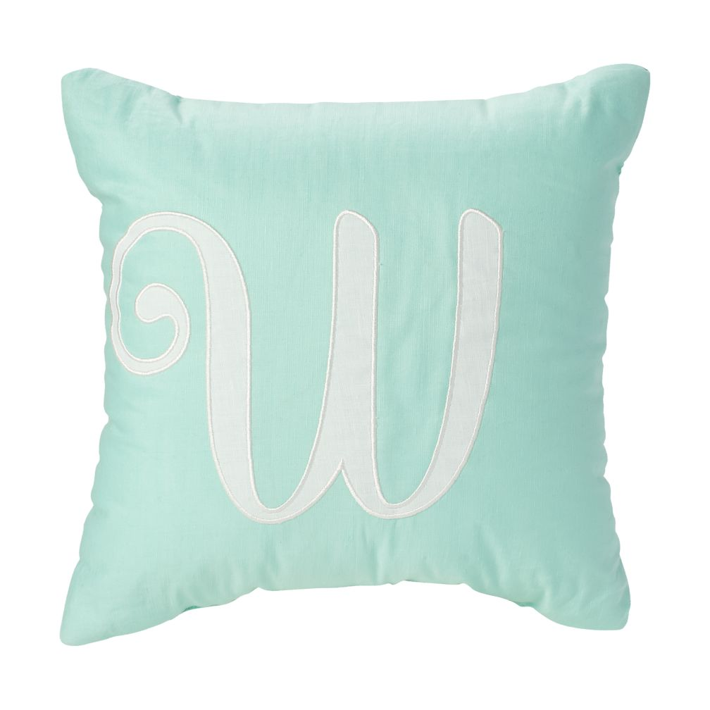 'W' Typeset Throw Pillow