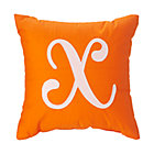 'X' Typeset Orange Throw Pillow