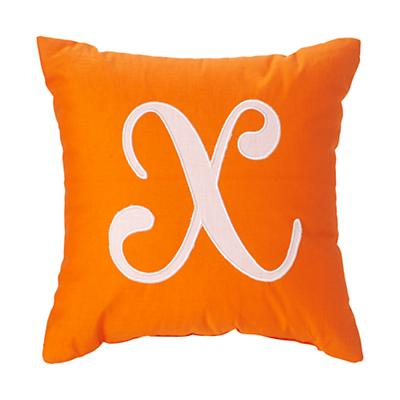 'X' Typeset Throw Pillow