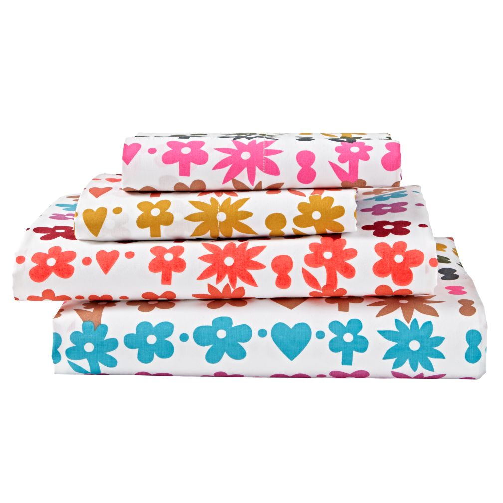 Queen Vintage Camp Sheet Set