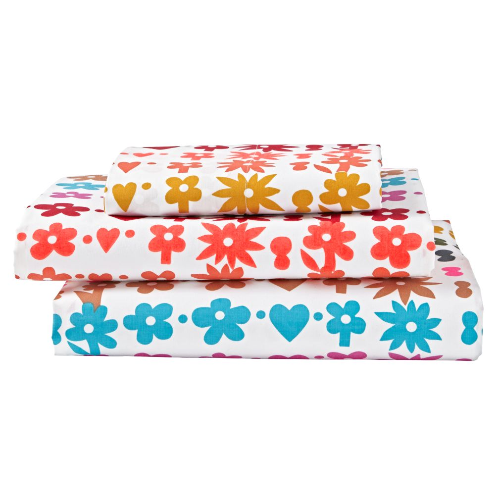 Twin Vintage Camp Sheet Set