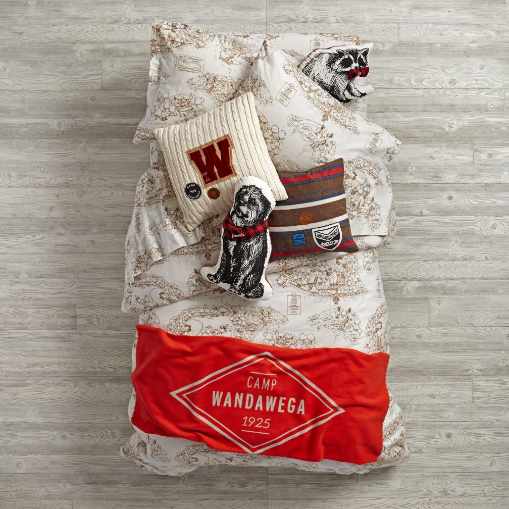 Happy Camping Flannel Bedding