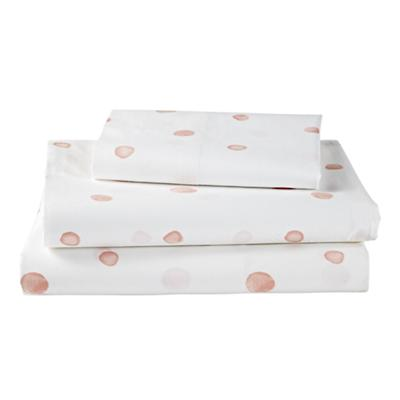 Washed Dot Organic Twin Sheet Set