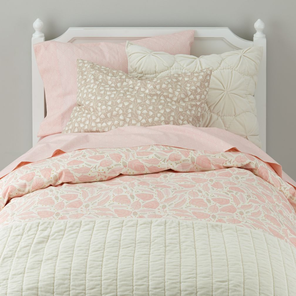 Well Nested Organic Duvet Cover (Pink)