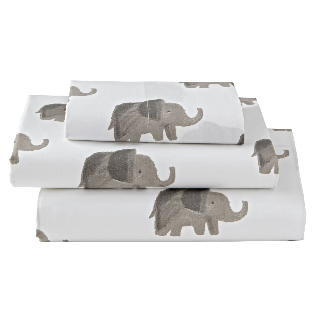 Twin Wild Excursion Elephant Sheet Set